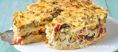 De 'gewone' aardappels, groenten en vlees in een taartvorm, zo lust vast iedereen het!