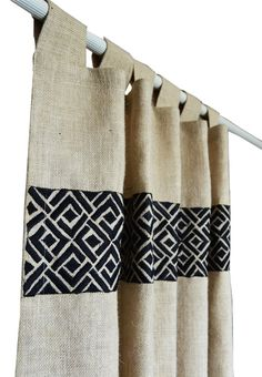 Burlap Curtains In Ivory Burlap Drapes With by AmoreBeaute on Etsy