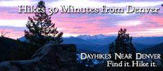 Day hikes near Denver - 30 mins away, waterfall hikes, easy hikes, Rocky Mt Natl Park, etc.