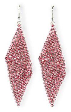 mesh stone colored earrings $10.50