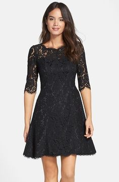 Sweet lace dress! Eliza J Lace Tulip Dress (Regular & Petite)