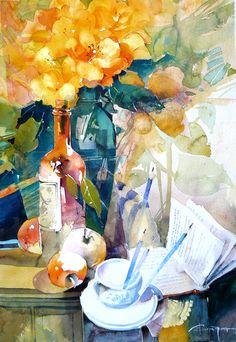 Watercolour-Acuarela-Corneliu-Dragan-Targoviste-natura-moarta-compozitie-7