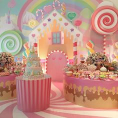 Decor Party Birthday Candy Land Ideas For 2019 Candy Theme Birthday Party, Candy Land Theme, Candy Party, Birthday Parties, Themed Parties, Party Decoration, Birthday Decorations, Candy Land Decorations, Mesas Para Baby Shower
