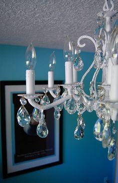 My refurbished chandelier. (i'm pretty proud of this) by erinsemet, via Flickr