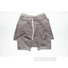 Indie Designs Rick Owens Inspired Layering Shorts