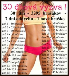 Návod na štíhle bruško :) Body Fitness, Fitness Tips, Fitness Motivation, Health Fitness, Workout Challenge, Excercise, Stay Fit, Pilates, Fitness Inspiration