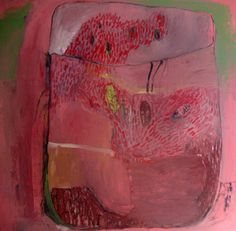 BrookeWandall / Terrarium in Pink  Original oil painting on canvas, gallery wrapped  29 x 30  unframed  signed and dated on back  thank you for supporting my work