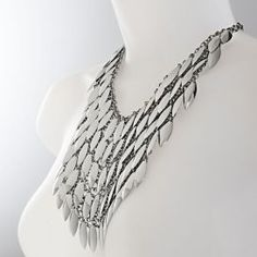 This stunning statement drop leaf necklace is from Irish company Newbridge Silverwares eShe Collection