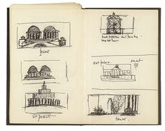 Credit: Sketchbooks Sketches for Sylvano Bussotti's opera, directed by Jarman in Florence in 1988. BFI National Archive