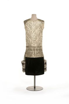 """Paul Poiret, """"Marrakech"""" Silver-Embroidered Evening Gown. French, 1924 (Back View)"""