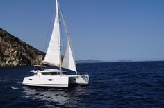 """Sail away with me, honey... You hold my heart in your hand..."" Fountaine Pajot Helia 44' catamaran"