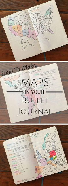 How to: make beautiful maps in your bullet journal and keep track of all your travels
