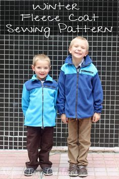 Fleece coat sewing pattern on Nap-Time Creations sewing patterns for kids by peek a boo patterns