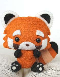 PDF Pattern - Felt Red Panda Plush
