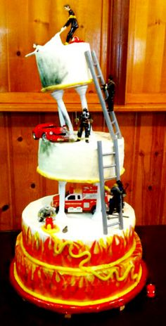 fire truck wedding cake toppers 1000 ideas about firefighter wedding cakes on 14279