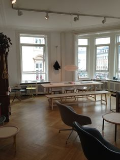 Hay Design House in Copenhagen Hay Design, House 2, Conference Room, Sweet Home, Dining Room, House Design, Windows, Moldings, Copenhagen