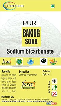 Baking Soda To relieve heartburn, sour stomach and/or acid indigestion #pure #healthcare