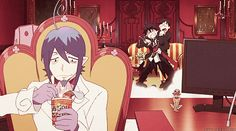 my school has the best cooks,and most esquisite food. Rin:then why are you eating cup noodles Ao No Exorcist, Blue Exorcist Mephisto, Blue Exorcist Anime, Read Anime, Manga Anime, Rin Okumura, Animated Cartoons, Love Blue, Naruto