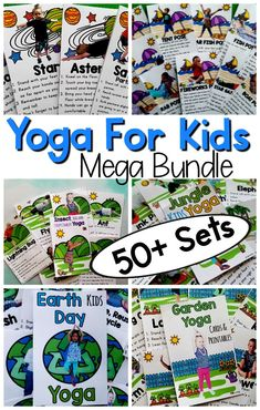 Kids Yoga Mega Bundle Over 50 Different Sets Of Themed Kids Yoga These Are Great For Kids Yoga Lesson Plans, Classroom Yoga, And Mindfulness Activities For Kids. Spare Big When You Buy Yoga For Kids In This Must Have Bundle Dementia Activities, Gross Motor Activities, Mindfulness Activities, Language Activities, Infant Activities, Yoga Lessons, Lessons For Kids, Yoga For Kids, Exercise For Kids
