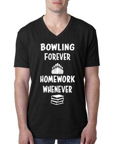 Bowling forever homework whenever V Neck T Shirt