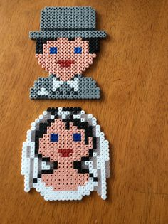 Bride and Groom Hama Beads
