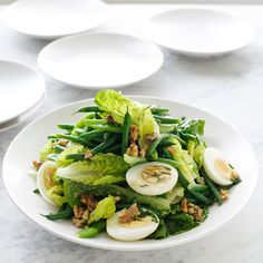 Paleo diet 446630488018743657 - repas Salade : haricots verts/oeufs durs/salade/noix/huile d'olives Source by tinechossiere Green Bean Salads, Green Bean Recipes, Walnut Recipes, Paleo Recipes, Boiled Egg Salad, Boiled Eggs, Hard Boiled, Salad Dressing Recipes, Salads