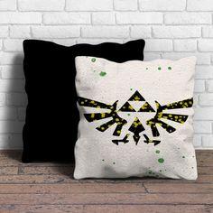 Legend of Zelda Triforce watercolor Pillow | Aneend