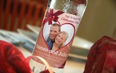 Decorate your wedding vodka with special label