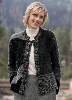 2-button Swing Alpaca Cardigan This Alpaca boucle swing cardigan ...
