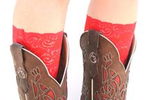 Red Boot Lace Cuff by RuralHaze on Etsy, $15.95