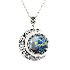 Moon Pendant Tardis Doctor Who Starry Night Necklace Van Gogh Jewelry Personalized Necklaces Gift JewelleryDesigner http://smile.amazon.com/dp/B00ZLOUMRQ/ref=cm_sw_r_pi_dp_5s5twb151TZ5W