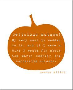 Fall - Free Printable - DeliciousAutumn