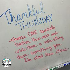 Thankful for Teacher Thursday-white board messages Daily Writing Prompts, Writing Resources, Writing Ideas, Morning Board, School Classroom, Future Classroom, Classroom Ideas, Bell Work, Responsive Classroom