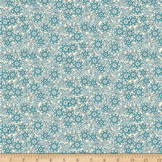 Chelsea Sloan Light Turquoise from @fabricdotcom  Designed by Dover Hill for Benartex, this cotton print is perfect for quilting, apparel and home decor accents. Colors include light blue, turquoise, brown and ivory.