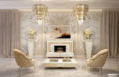 #WhiteandGold Art Deco Furniture for living room vismara design