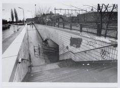 De Brouwerstunnel, vanaf de Soesterweg. Aan de overkant van de spoorlijn het Smallepad. The Province, Utrecht, Netherlands, Holland, Louvre, City, Building, Travel, Nostalgia