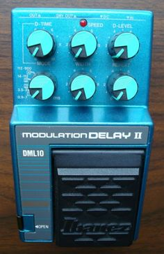 """The original modulation delay box. Drew Zingg turned me on to this one. Pretty much a PCM 42 in a stomp box. There's a DML 15 and 20 as well. It's how i get my """"laser seagull"""" and other sounds that all the Americana kids love ever since they found out it was OK to like Pink Floyd."""