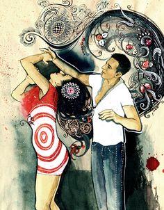 Salsa Dance Sketchbook by Sveta Dorosheva, via Behance