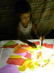 Light box collages. *repinned by wonderbaby.org