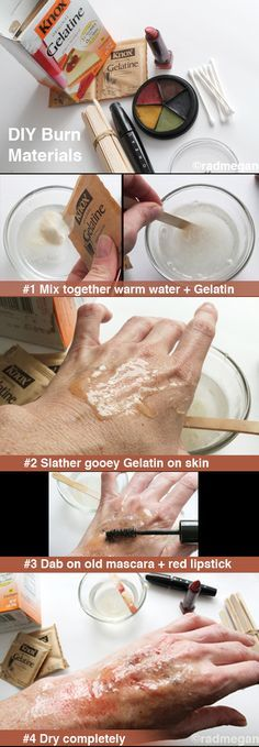 Guest blog post from #Radmegan on how to make fake burns for #Halloween