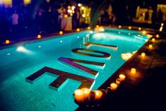 "Best Inspirations: Awesome Pool Wedding Decorations Ideas - "" Best Picture For trends sneakers For Your Taste You are looking for something, and it is goin - Pool Wedding Decorations, Wedding Themes, Wedding Designs, Diy Wedding, Swimming Pool Decorations, Miami Wedding, Wedding Ideas, Places To Get Married, Cool Pools"