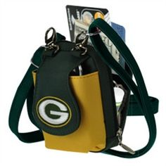 Green Bay Packers Mini Purse Wristlet Small Cell Phone Case Two Tone 6cf446e41