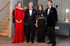 King Philippe Pictures: King Philippe and Queen Mathilde arrive to the their return arragenemt at the Black Diamond on March 29, 2017 in Copenhagen, Denmark. This event completes King Philippe's and Queen Mathilde's 2 days state visit to Denmark.