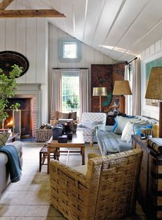 Living Room With Natural Textures | photo Eric Piasecki | design Steven Gambrel | House & Home
