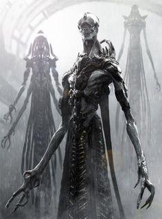sifi horror art | horror concept art monster sci-fi science fiction alien horror movie: