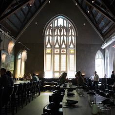 Take a break in Charleston from the pretty architecture by eating inside one of the city's historic buildings. @5churccharleston is a jaw-droppingly beautiful restaurant located inside a real historic church