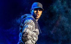 Download wallpapers Chris Brown, portrait, American singer, concert, American celebrities