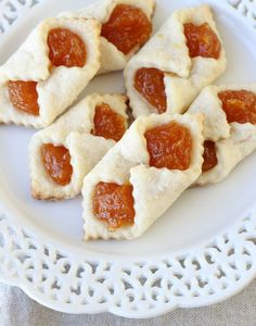 These Traditional Hungarian Cookies are a cross between a cookie and a pastry. Hungarian Christmas cookies are too good to share immediately! These Christmas cookies will look fantastic on your Christmas cookie tray. Cookie Desserts, Just Desserts, Cookie Recipes, Dessert Recipes, Cookie Tray, Kolache Cookie Recipe, Rugelach Recipe, Holiday Baking, Christmas Baking