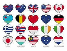 PATRIOT Heart flag cross stitch