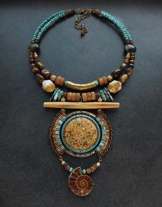 Bead Embroidery Jewelry, Fabric Jewelry, Beaded Embroidery, Beaded Jewelry, Beaded Necklace, Necklaces, Bold Jewelry, Unusual Jewelry, Jewelry Design